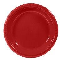 "Creative Converting 28-1031-31B 10"" Classic Red Plastic ..."