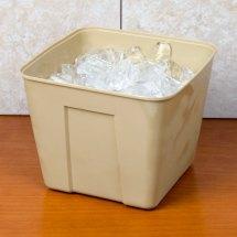 3 Qt. Beige Square Plastic Ice Bucket