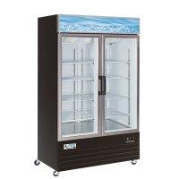 """Avantco GDC40 48"""" Swing Glass Door Black Merchandiser ..."""