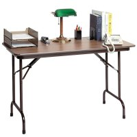 "Correll CF2436MK 24"" x 36"" Walnut Melamine Top Keyboard ..."