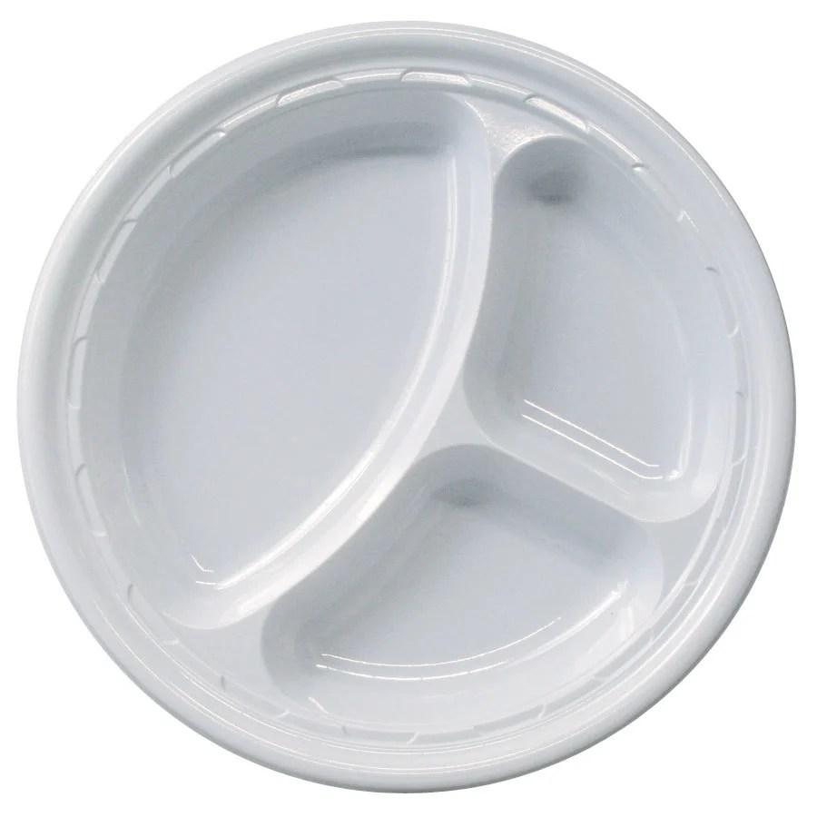 """Dart Solo 10CPWF 10 1/4"""" White 3 Compartment Famous"""