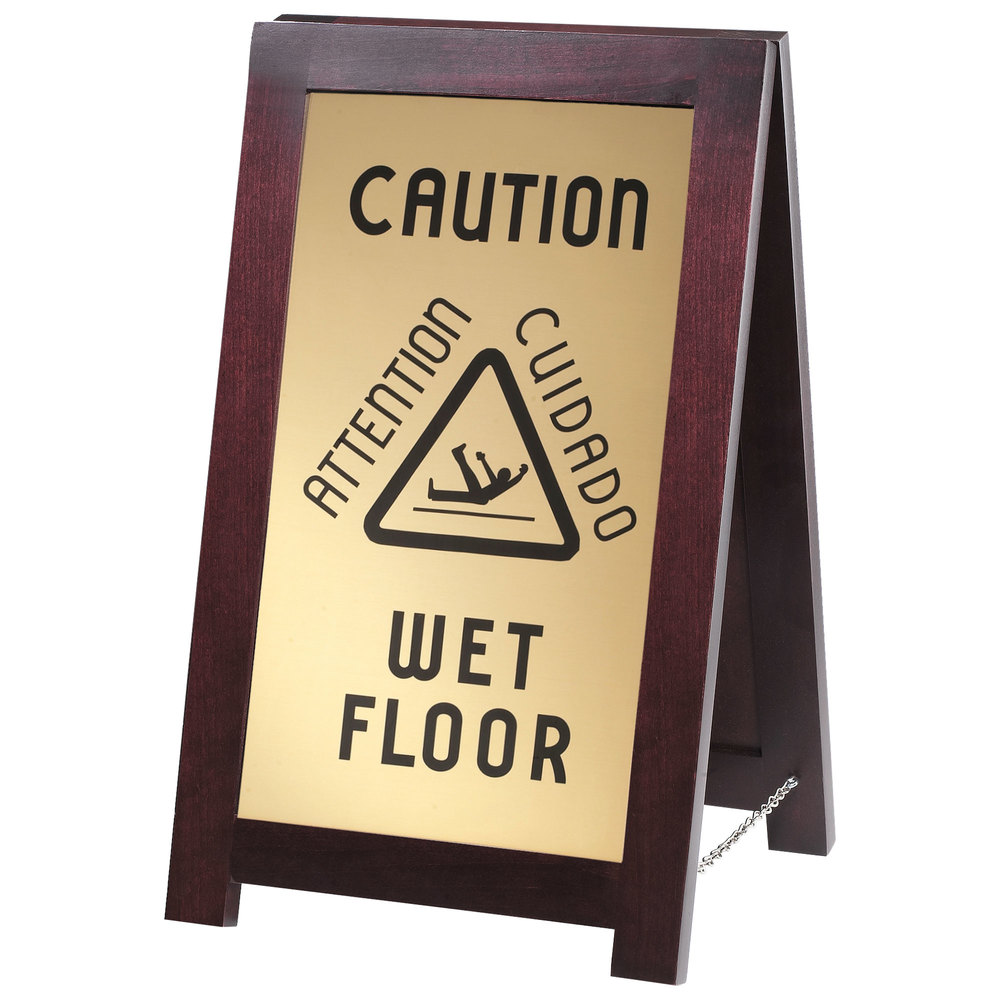 CalMil 851WET 2Sided Wooden WET FLOOR Sign