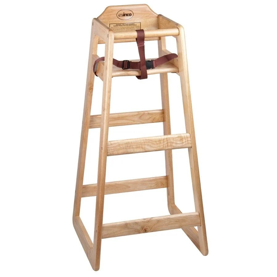 Stacking Restaurant Wooden Pub Height High Chair