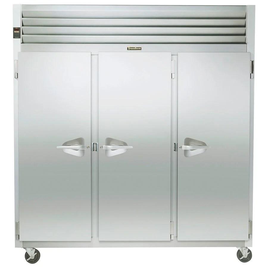 medium resolution of traulsen g31310 3 door reach in freezer left right right hinged doors jpg