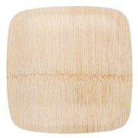 "Bambu 063100 7"" Disposable Square Bamboo Plate - 25 / Pack"