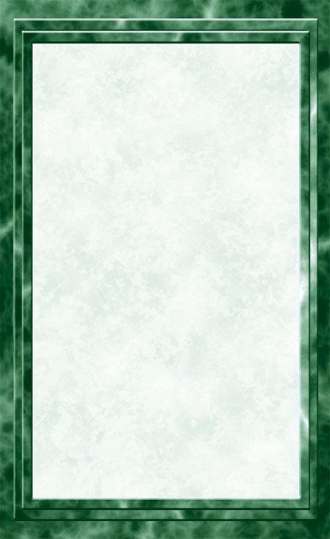 8 12 x 14 Menu Paper  Green Marble Border  100Pack