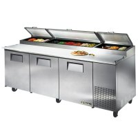refrigerated prep table true prep table true tpp 93 pizza ...