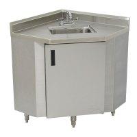 Advance Tabco SHK-2441 Stainless Steel Corner Sink Cabinet ...