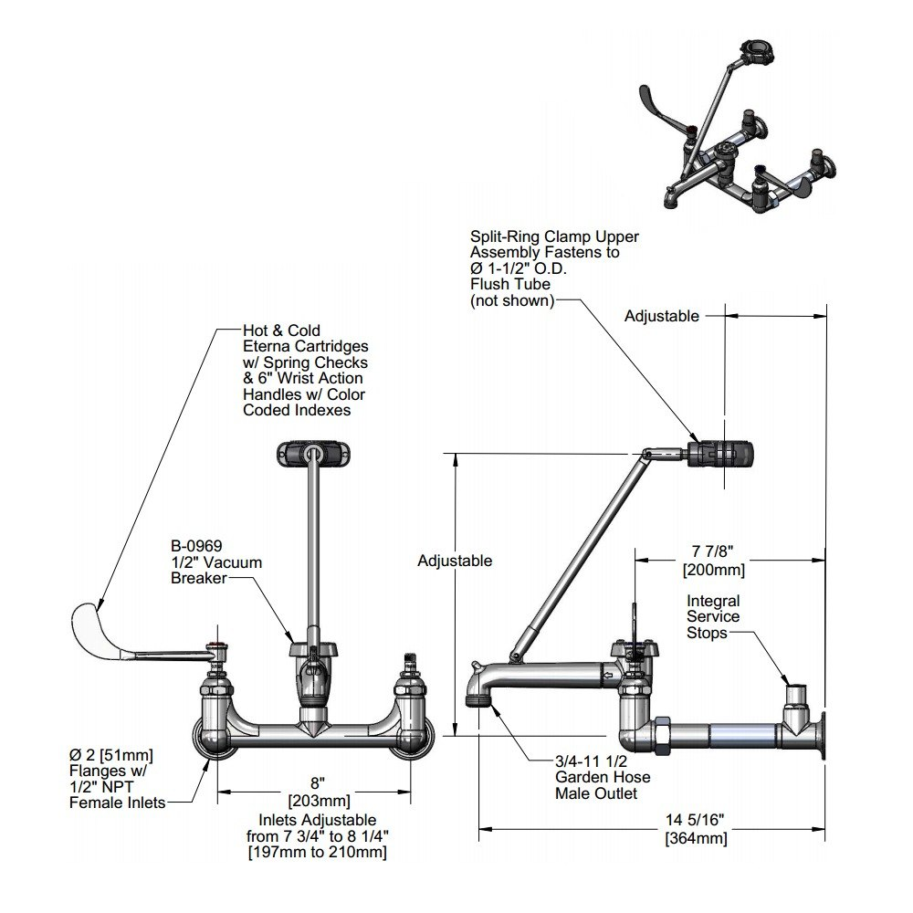 Wall Mount Kitchen Faucet from Sears.com