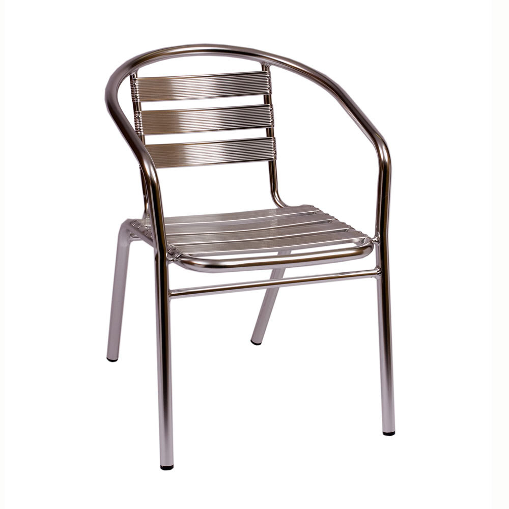 BFM Seating Parma MS0021 Stackable Outdoor Aluminum Chair