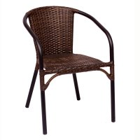 BFM Seating MS11CBBBL Marina Stackable Outdoor Brown ...
