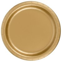 "Creative Converting 50103B 10"" Glittering Gold Paper Plate ..."