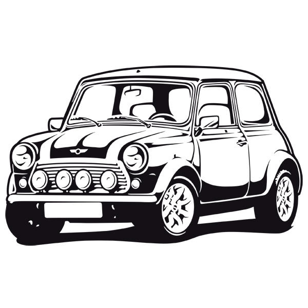 Sticker mural classique Mini Cooper 60.