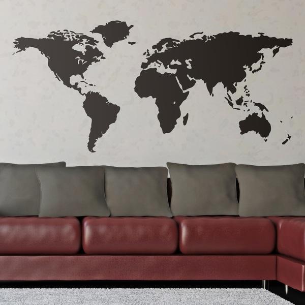 Stickers Muraux Carte du Monde  WebStickersMurauxcom