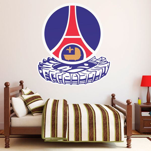 stickers muraux geant psg 1982