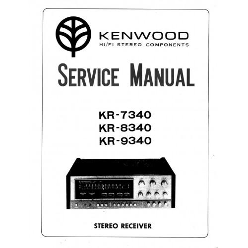 Kenwood KR-7340/8340/9340 Receiver Service Manual