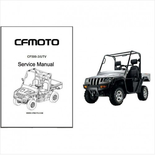 CFMoto CF500-3 Rancher UTV Service Repair Manual CD .. CF