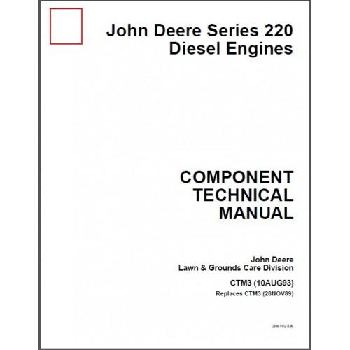 John Deere Series 220 Diesel Engines Service Manual CD