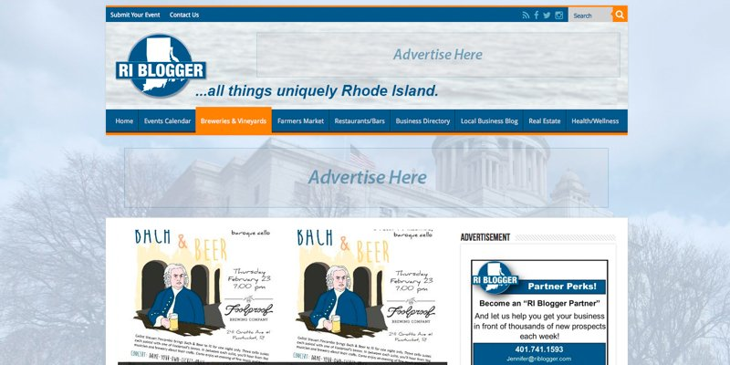 RI BLogger Redesign