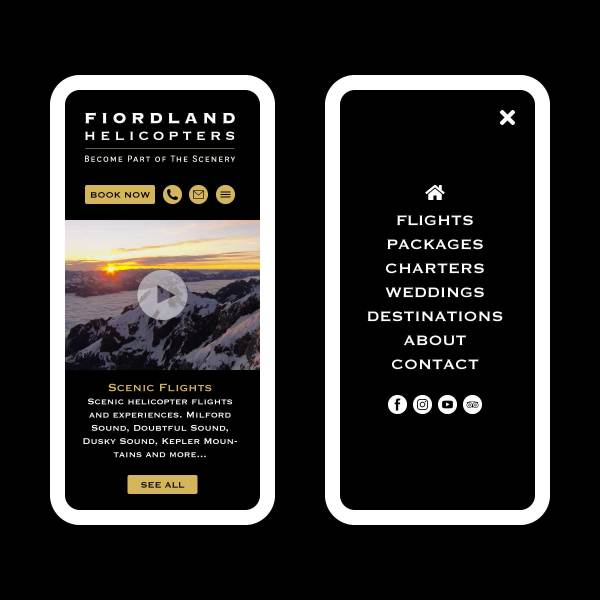 Fiordland Helicopters Website