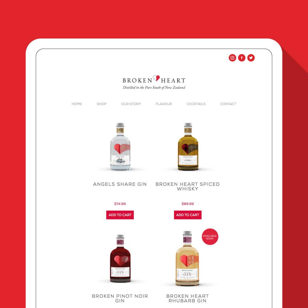 Broken Heart Shop Website