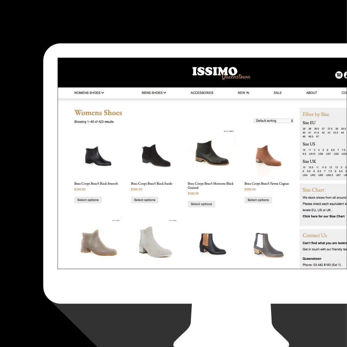 Issimo Shoes Shop Website