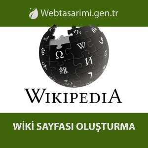 WikiPedia Sayfası oluşturma