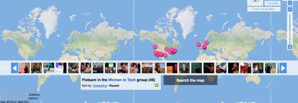 Flickr map of Women in Tech Photos