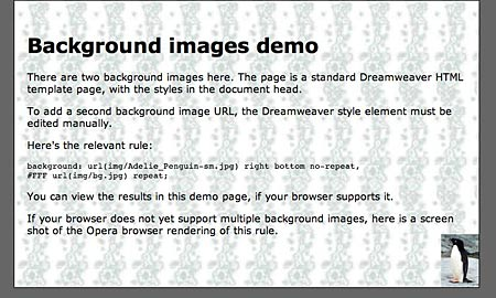 background images demo screen shot