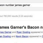james garner bacon number