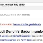 Judi Dench bacon number
