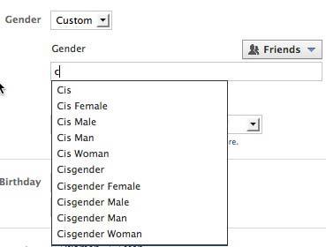 fb_gender list