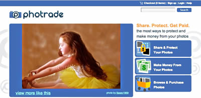 Photrade home page