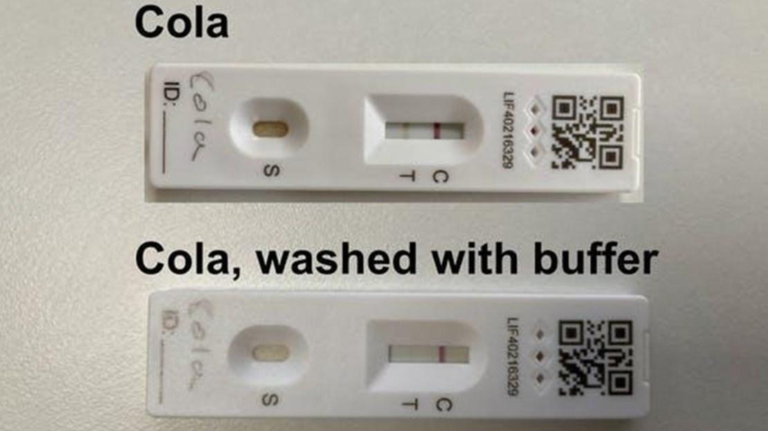 Solüsyonla yıkanan kolalı test