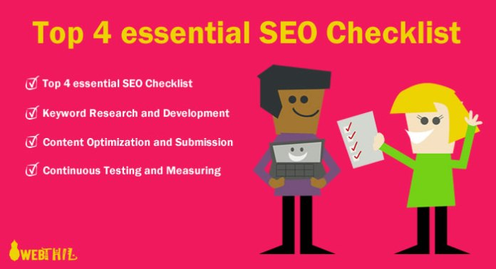 top-4-essential-seo-checklist