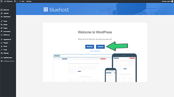 select-blog-type-bluehost