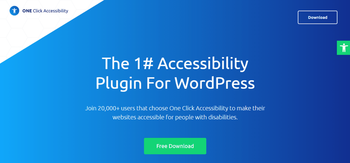 one click accessibility plugin