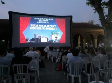 Projection de cinéma, 2018. Copyright : VNF