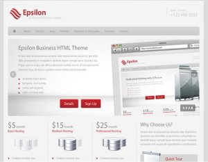 plantilla wordpress web hosting