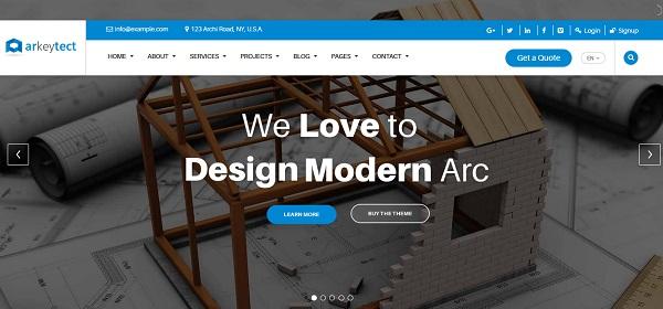 Mejores Temas Wordpress Para Diseño De Arquitectura » webtralia.com