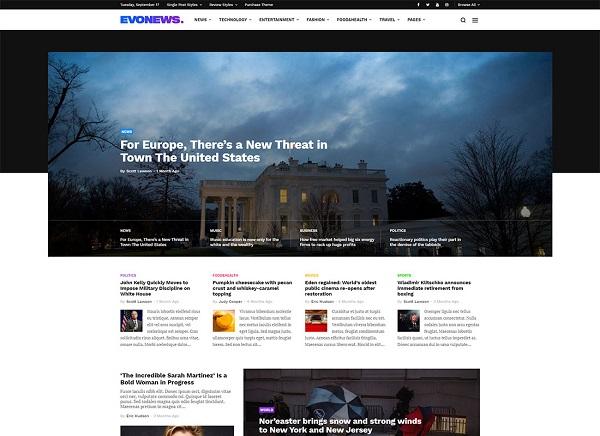 EvoNews | Plantilla Wordpress Para Portal De Noticias » webtralia.com
