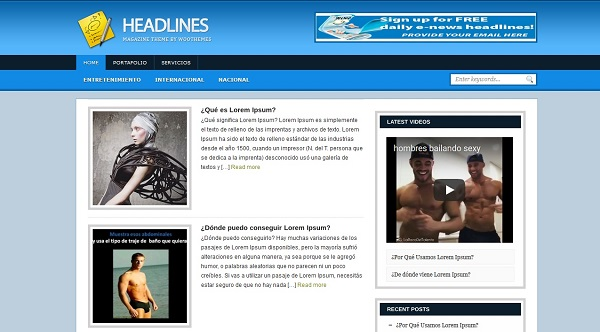 Temas Wordpress Para Blogs De Noticias - HeadLines » webtralia.com