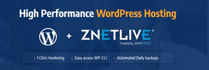 Alojamiento ZNetLive WordPress