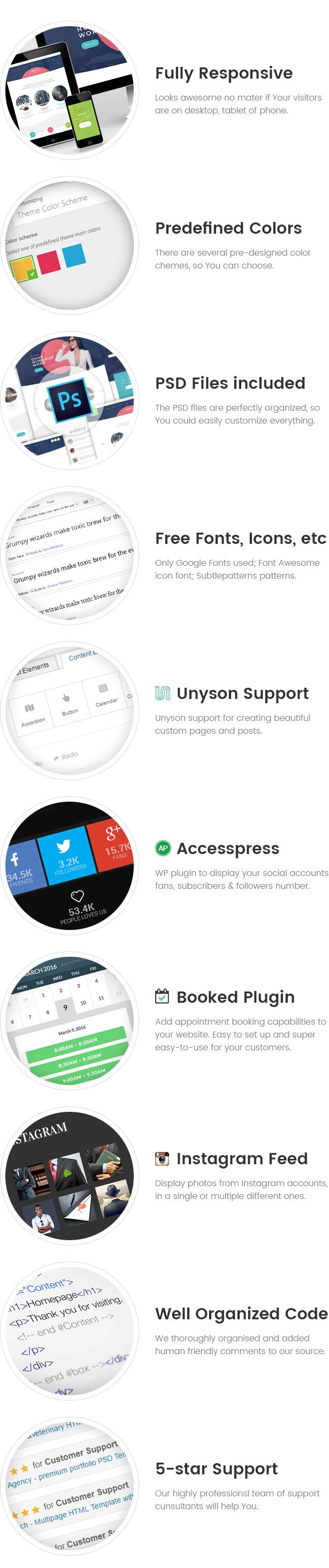 Qhub - Tema de trabajo de Office y Office WordPress