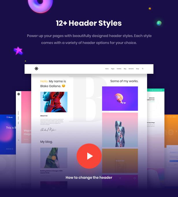 Brook - Tema creativo de WordPress multipropósito