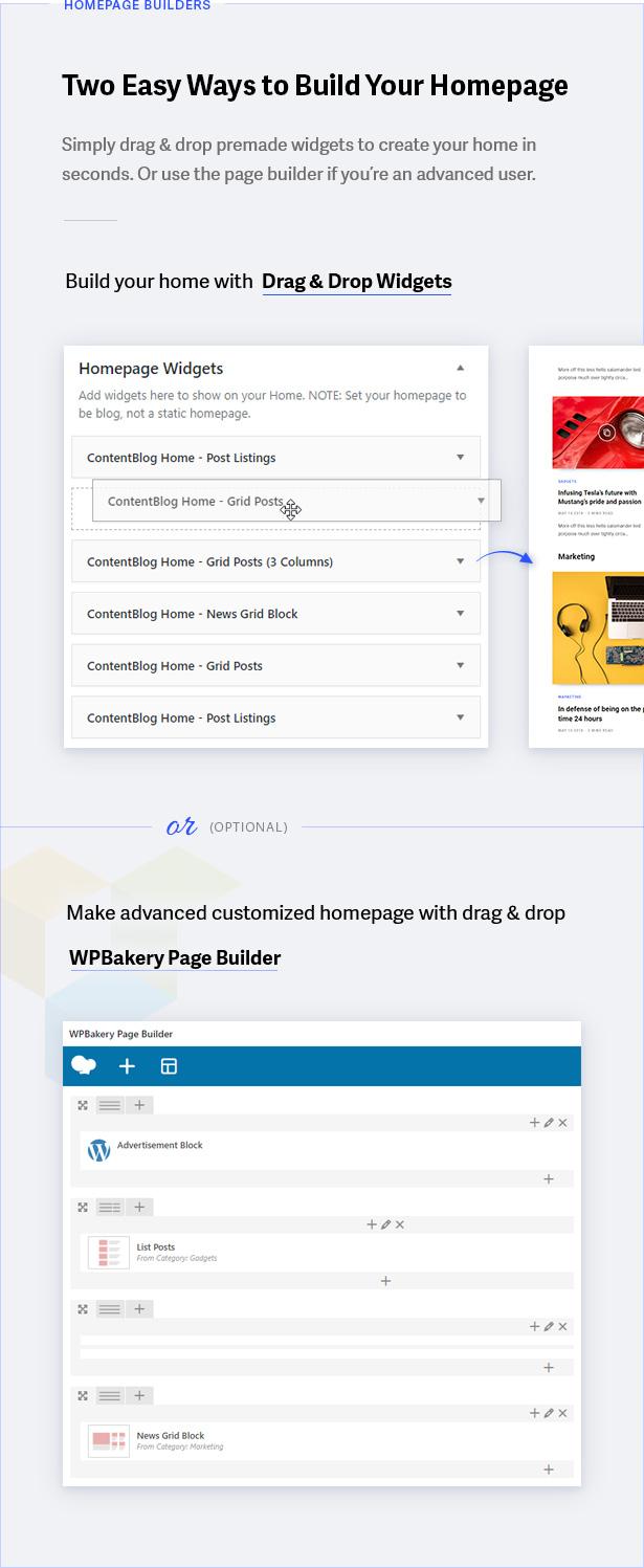 Página de inicio de constructores