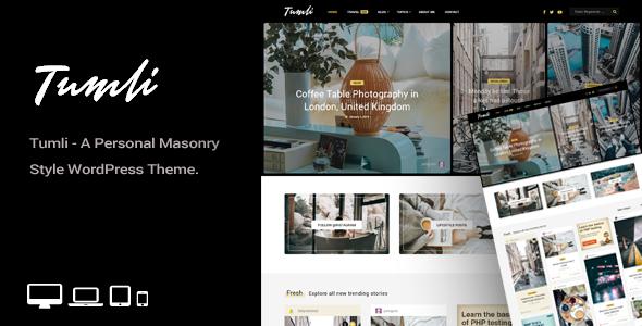 personal blog wordpress theme