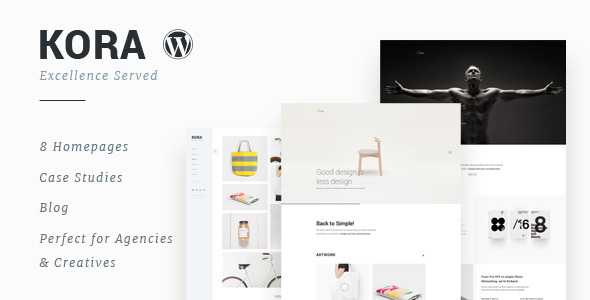Kora - Portafolio, Agencia WordPress Theme
