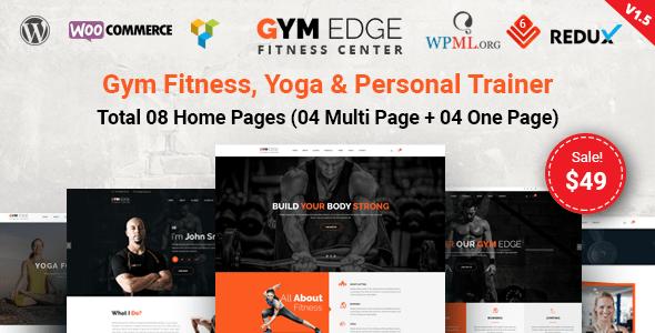gimnasio fitness tema de WordPress