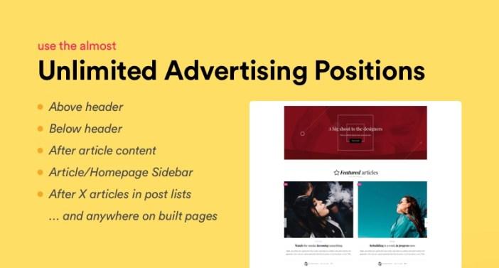 opciones de publicidad